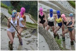 Mặc bikini đi cấy lúa, nhóm người đẹp gây phẫn nộ