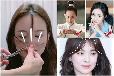 Tự xử tóc mái 'chữ bát' giống Song Hye Kyo, Dương Mịch chỉ với 2 bước đơn giản