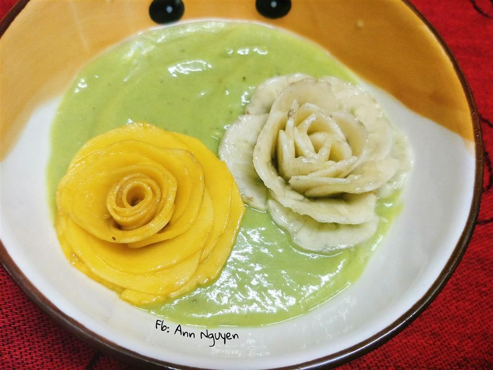 Cách xếp trái bơ thành bông hoa chỉ vài bước, ai làm cũng thành công luôn-9