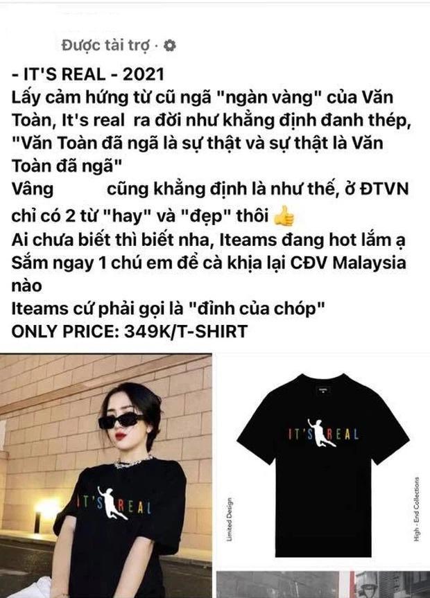 Áo cú ngã pen của Văn Toàn bị các shop thi nhau nhái lại, giá bán trên trời-7
