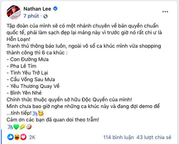 Nathan Lee tuyên bố xúc 9 bài hit của Cao Thái Sơn nhưng mới chốt deal được 6-4