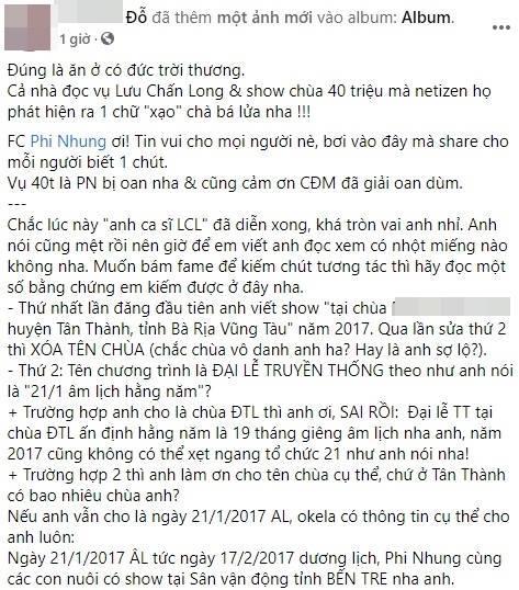 Ê-kíp Phi Nhung tung bằng chứng tố Lưu Chấn Long vu khống-5