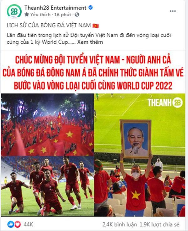Mạng xã hội Việt bùng nổ khi Việt Nam chính thức lọt vòng 3 World Cup 2022-5