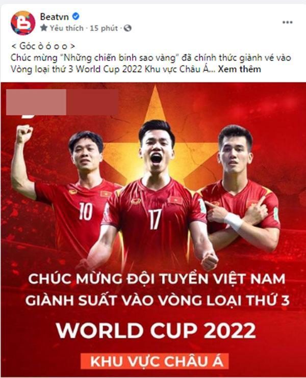 Mạng xã hội Việt bùng nổ khi Việt Nam chính thức lọt vòng 3 World Cup 2022-6
