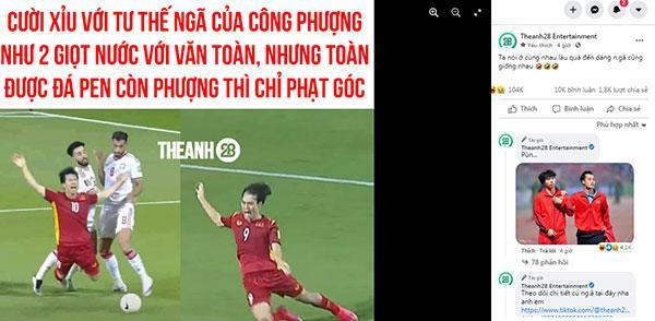 Fans tìm điểm giống chí mạng cú ngã Văn Toàn, Công Phượng trận gặp Malaysia, UAE-1