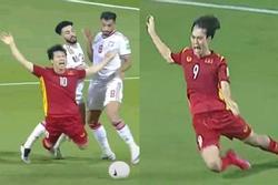 Fans tìm điểm giống 'chí mạng' cú ngã Văn Toàn, Công Phượng trận gặp Malaysia, UAE