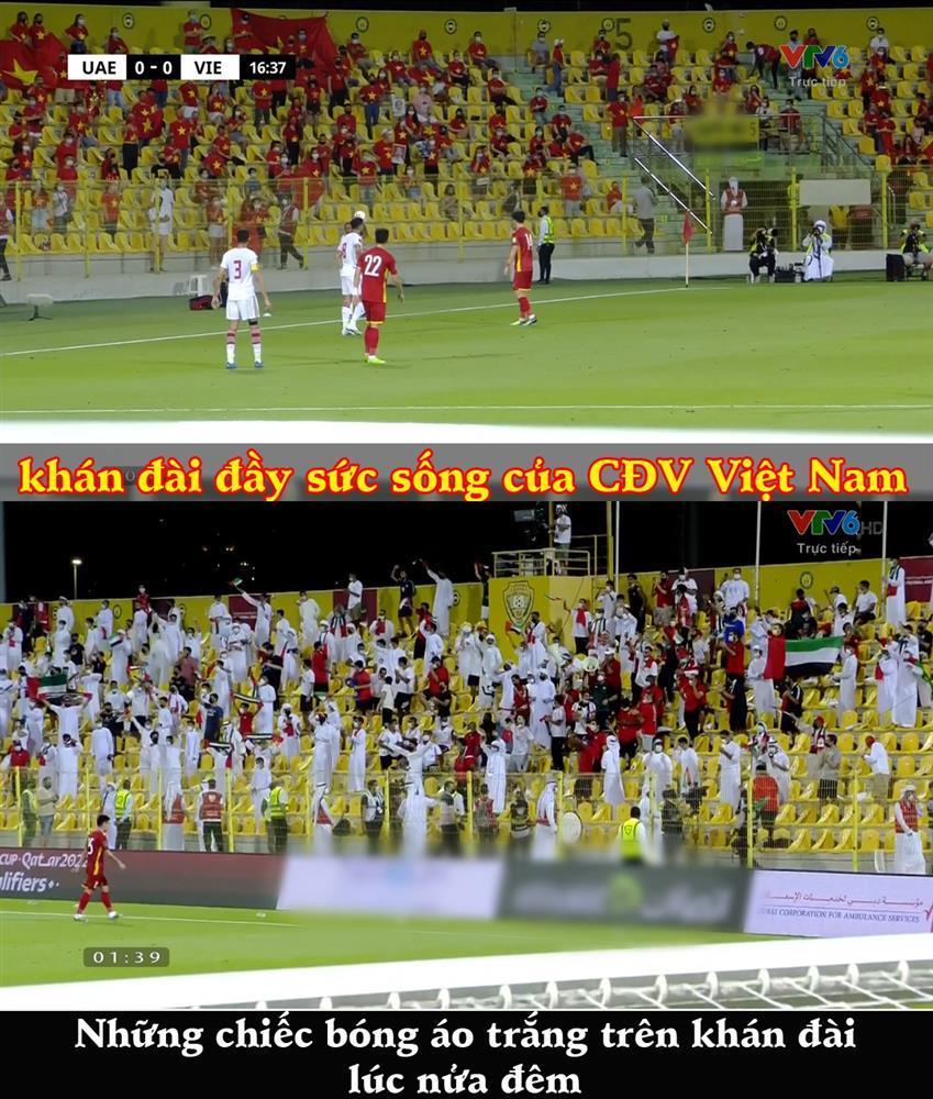 CĐV UAE diện Kandura trắng toát giữa đêm, thổi nhạc nhức óc phát hờn-2