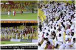 CĐV UAE diện Kandura trắng toát giữa đêm, thổi nhạc nhức óc 'phát hờn'