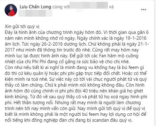 Lưu Chấn Long phản dame chứng minh Phi Nhung thực sự đòi tiền đổ xăng 40 triệu-4