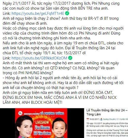 Lưu Chấn Long phản dame chứng minh Phi Nhung thực sự đòi tiền đổ xăng 40 triệu-3