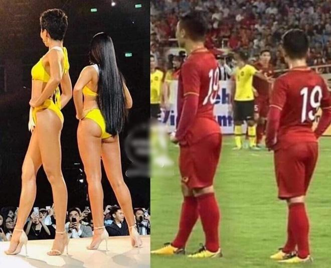 Khoe vòng 3 mẩy đét hệt HHen Niê, Quang Hải được phong Hoa hậu sân cỏ-4