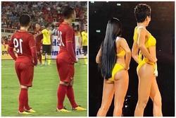 Khoe vòng 3 mẩy đét hệt H'Hen Niê, Quang Hải được phong 'Hoa hậu sân cỏ'