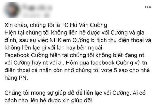 Fanpage Hồ Văn Cường đăng status mới, dân mạng: Hệt như dàn xếp-4
