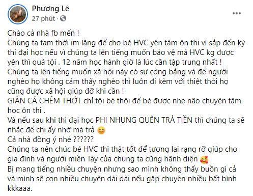 Hoa hậu Phương Lê tuyên bố tạm tha Phi Nhung, lý do là gì?-2