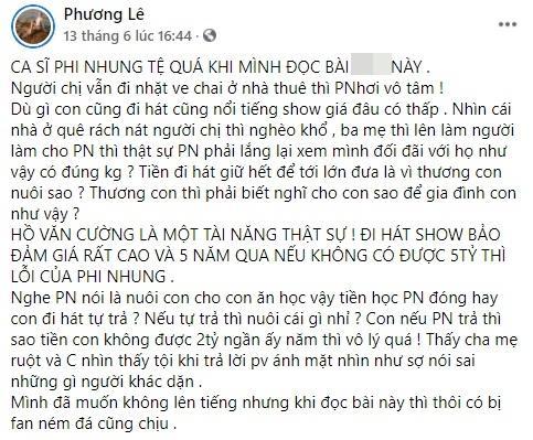 Hoa hậu Phương Lê tuyên bố tạm tha Phi Nhung, lý do là gì?-6