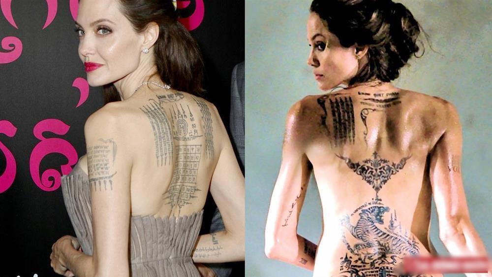 Tất tần tật ý nghĩa của gần 20 hình xăm trên cơ thể Angelina Jolie-1