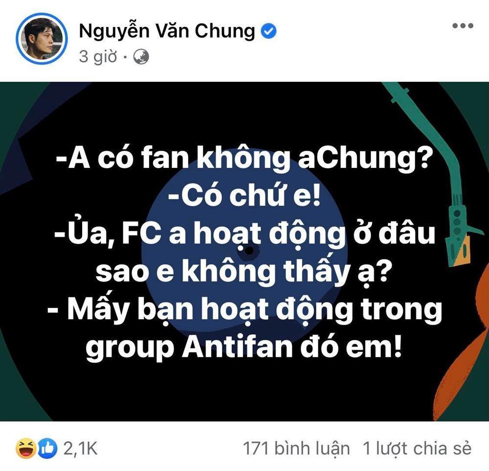 Nguyễn Văn Chung tạo tiền lệ showbiz: Fan và mẹ đều nằm vùng group anti-2