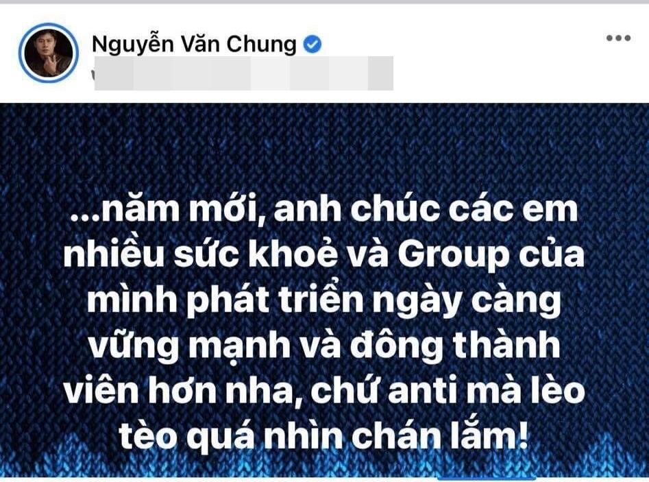 Nguyễn Văn Chung tạo tiền lệ showbiz: Fan và mẹ đều nằm vùng group anti-4