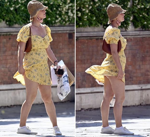 Katy Perry bị tốc váy lộ vòng 3 trên phố, được so sánh với Marilyn Monroe-1
