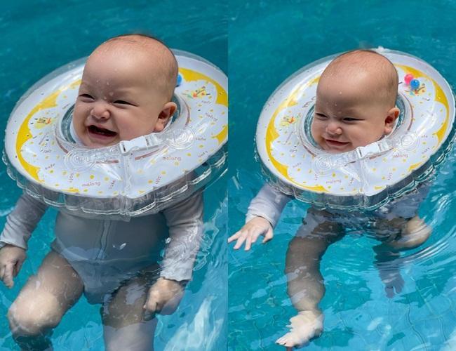 Gia đình Hồ Ngọc Hà đi bơi: 3 nét đẹp không bằng 1 nét hài-11
