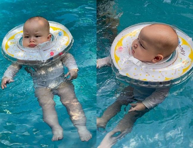 Gia đình Hồ Ngọc Hà đi bơi: 3 nét đẹp không bằng 1 nét hài-13