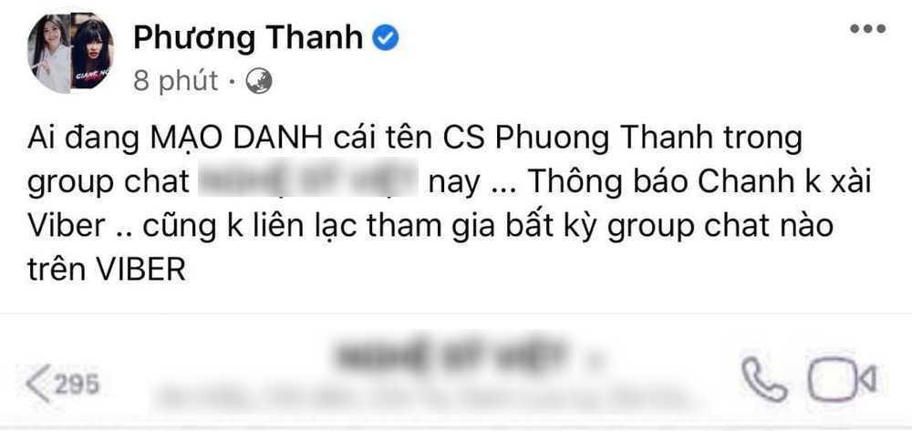 Phương Thanh, Nguyễn Văn Chung nói rõ việc tham gia group chat chấn động showbiz-3