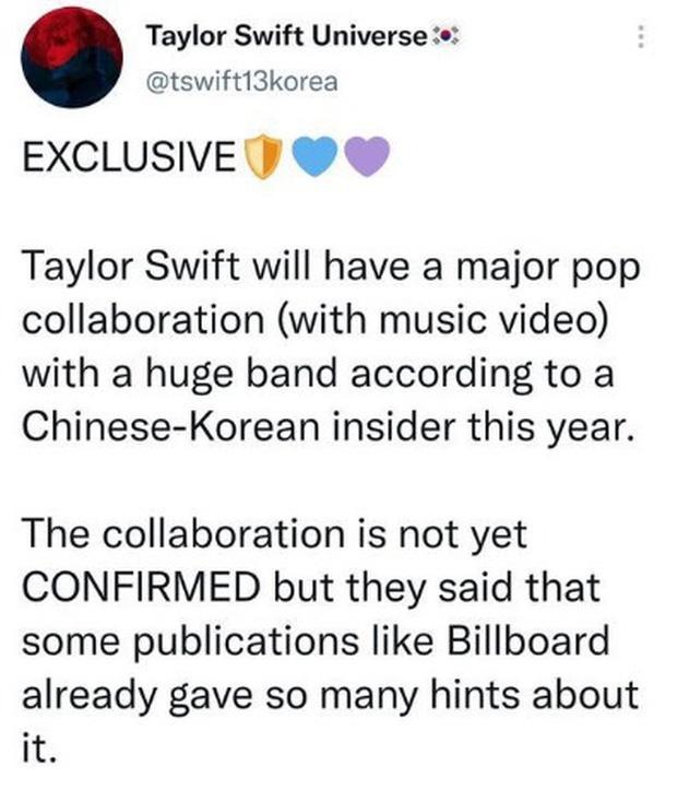 Rộ tin đồn Taylor Swift hợp tác với 1 sao Kpop, fan đoán ngay là BLACKPINK-1