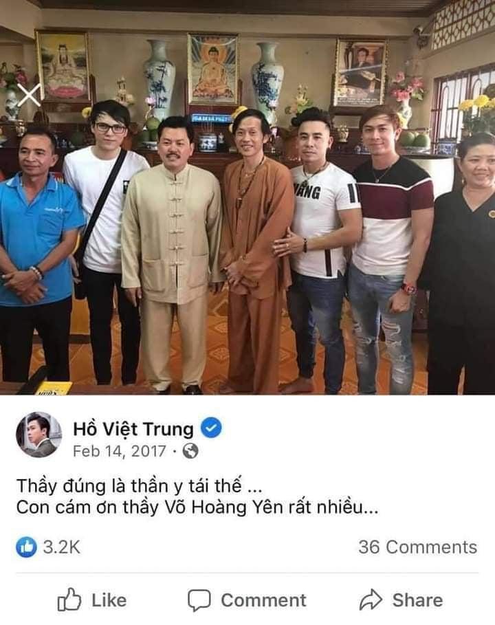 Hồ Việt Trung tâng bốc Võ Hoàng Yên: Thầy đúng là thần y tái thế-1