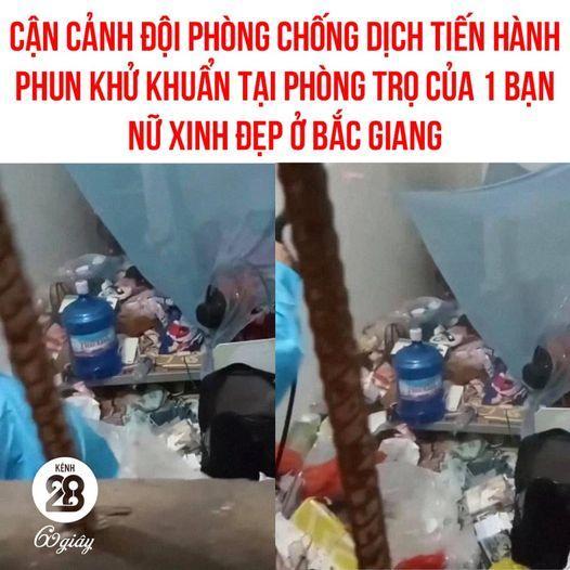 Đội phun khử khuẩn hết hồn vì phòng trọ siêu bẩn của nữ sinh Bắc Giang-1