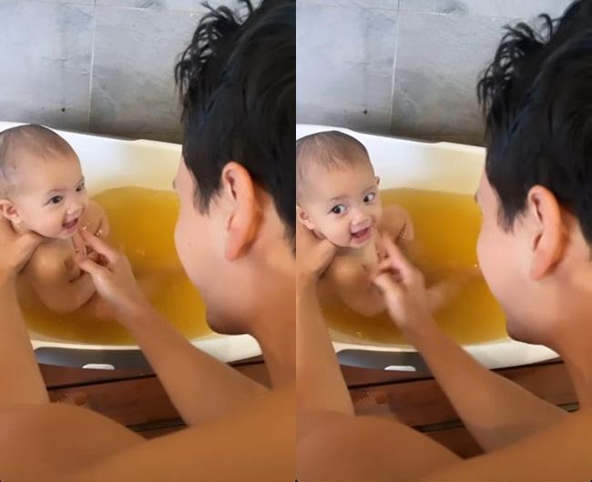 Kim Lý tắm cho con gái, Hồ Ngọc Hà: Đố ai sau này yêu được bà Lisa-2