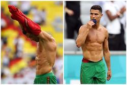 Ronaldo lột áo tặng fan: Ngã gục với body '6 múi sầu riêng'