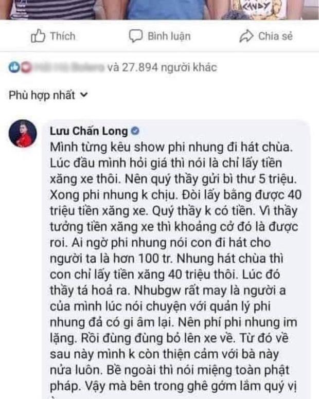 Lưu Chấn Long vạch mặt Quang Lê tốt lành gì, hát chùa cũng đòi 30 triệu-3