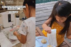 Con gái Tăng Thanh Hà được dân mạng chấm điểm 10 chăm chỉ