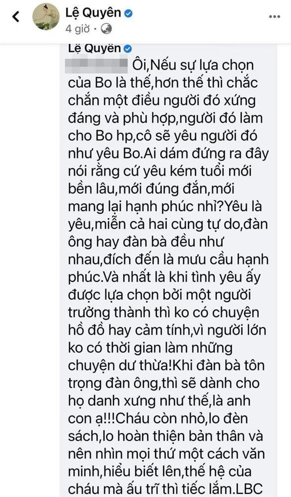Phản ứng của Lệ Quyên khi con trai bị lôi vào chuyện cô hẹn hò Lâm Bảo Châu-2