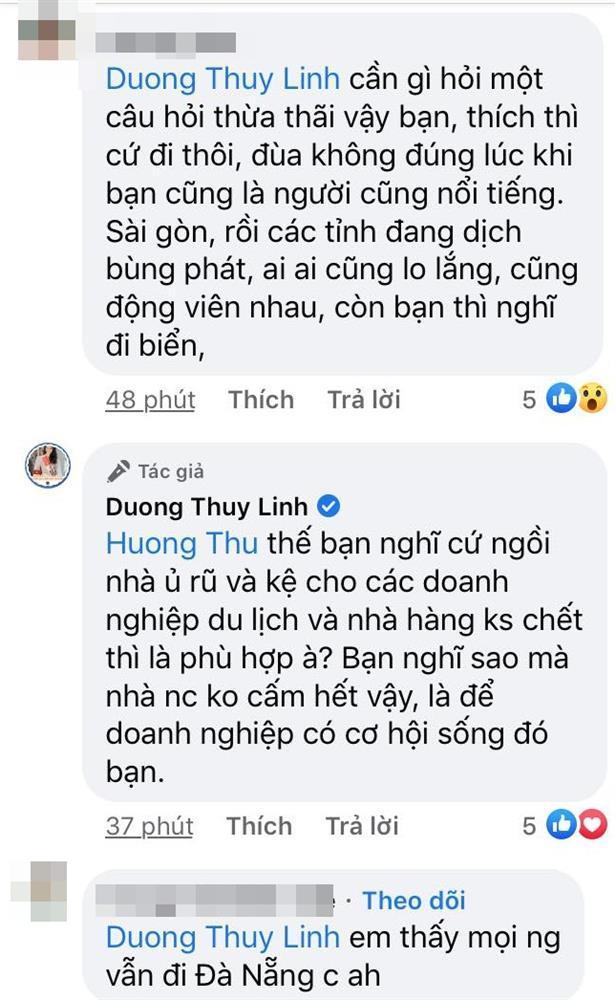 Dương Thùy Linh phản dame khi bị chỉ trích đang dịch mà đòi đi biển-3
