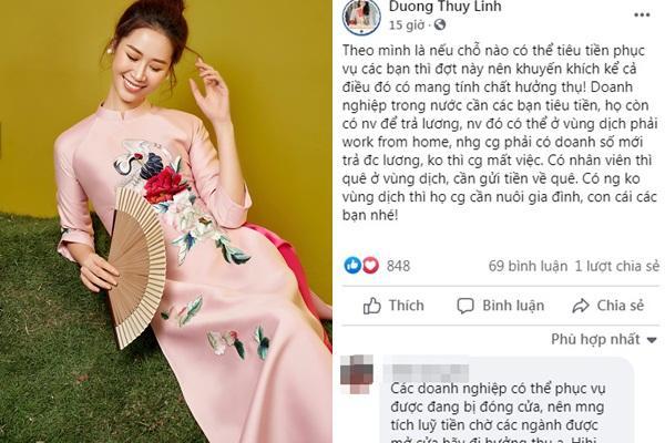Dương Thùy Linh phản dame khi bị chỉ trích đang dịch mà đòi đi biển-5