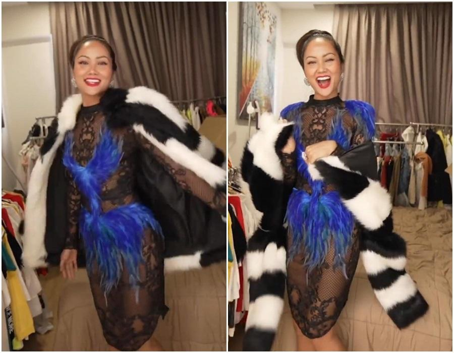 Hé lộ váy chưa diện ở Miss Universe 2018, HHen Niê bị chê như kiều nữ phòng trà-3
