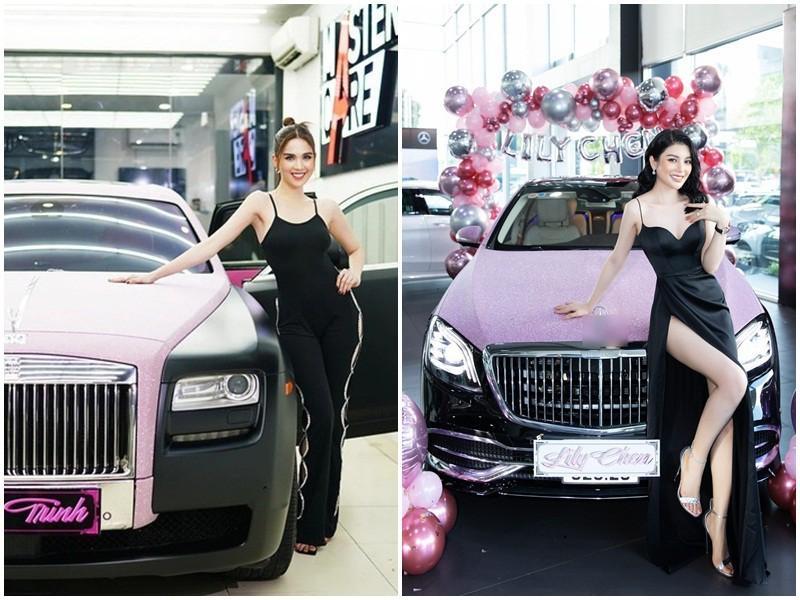 Ngọc Trinh - Lily Chen đụng từ siêu xe đến túi Hermès, còn bị nghi chung bồ-1