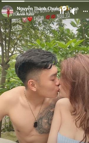 Từ khu cách ly, Thành Chung tung ảnh nóng với hotgirl cùng quê-2