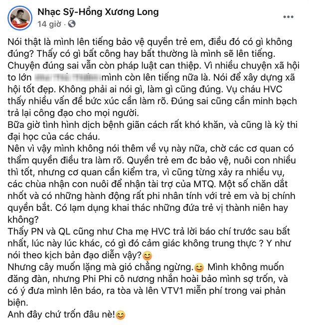 Phi Nhung nói gì sau lời tố đe dọa nhạc sĩ Hồng Xương Long?-2