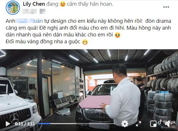Ghét xài chung bồ với cô Trinh, LiLy Chen đổi màu xe cho đỡ ngứa mắt?-1