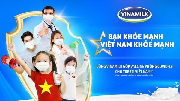 Góp vắc xin Covid-19 cho trẻ em qua chiến dịch Bạn khỏe mạnh, Việt Nam khỏe mạnh của Vinamilk-1