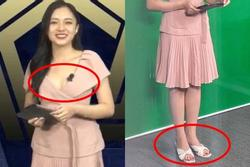 Nữ MC trẻ nhất VTV lên đồ trên gợi cảm dưới 'lạc quẻ' khi dẫn sóng