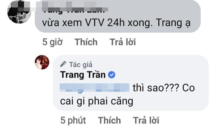 Trang Trần làm gì căng sau bản tin VTV lên án livestream vô văn hóa-3