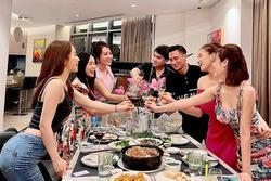 Hội bạn Hà Thành tụ họp: Quỳnh Nga bị soi ưỡn ẹo cố khoe vòng 3