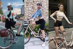 Đạp xe thì ít mà sao Việt chủ yếu khoe street style chất lừ là nhiều!