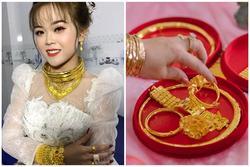 Cô dâu 18 tuổi đeo 20 cây vàng trong ngày cưới khiến dân tình lóa mắt
