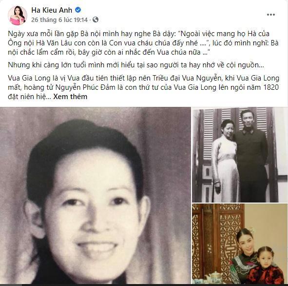 Hà Kiều Anh có hành động lạ giữa ồn ào công chúa triều Nguyễn-5