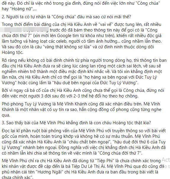 Hậu duệ nhà Nguyễn nói gì sau khi Hà Kiều Anh xin lỗi?-4