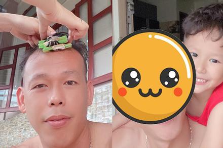 Ông chú Tấn Trường khoe được vợ uốn tóc, xem thành quả suýt ngất